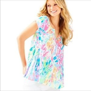 Lilly Pulitzer Shelley Top Size Large
